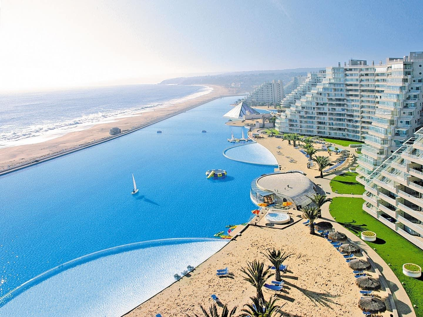 Largest Pool In Chile >> World S Biggest Pool Is In Chile Amazing Zone